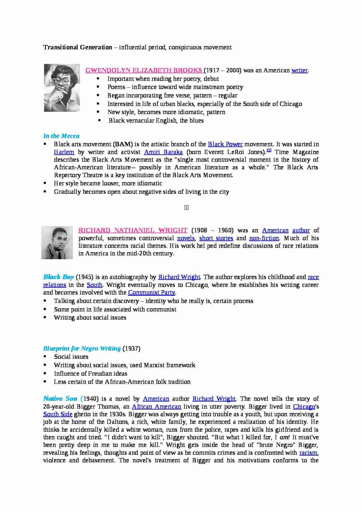 Transitional generation opracowanie notatek podgld dokumentu transitional generation opracowanie strona 1 malvernweather Image collections