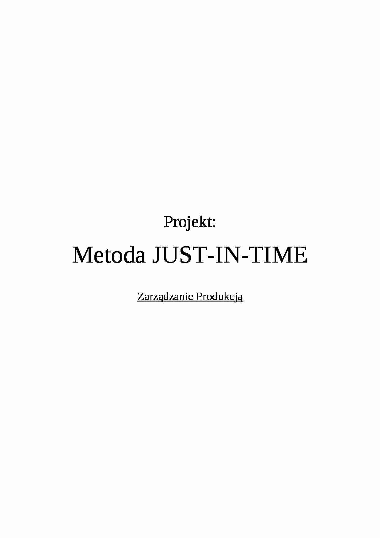 Metoda Just-In-Time - strona 1