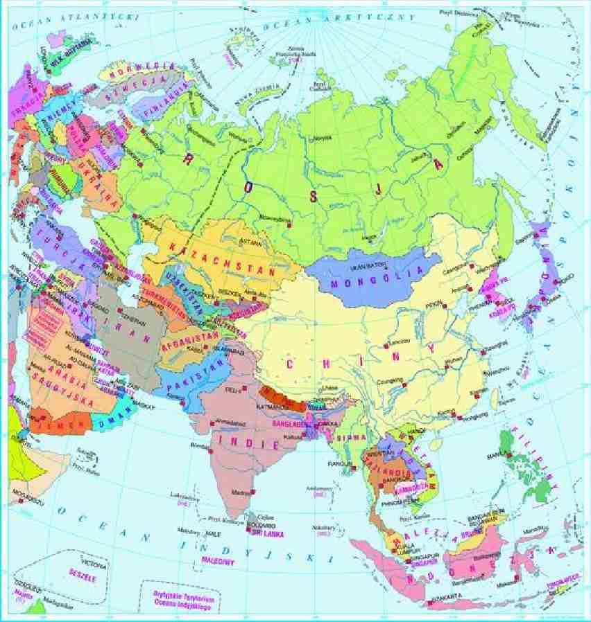 Mapa Azji Notatek Pl