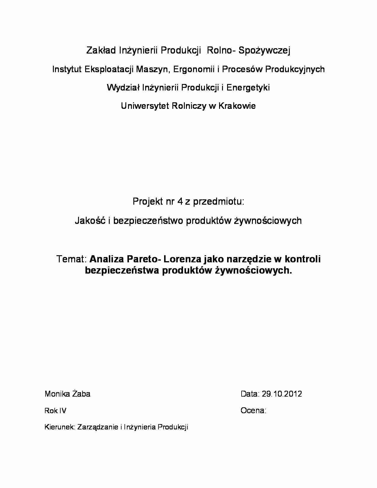 Analiza pareto lorenza wykres notatek podgld dokumentu analiza pareto lorenza wykres strona 1 ccuart Images