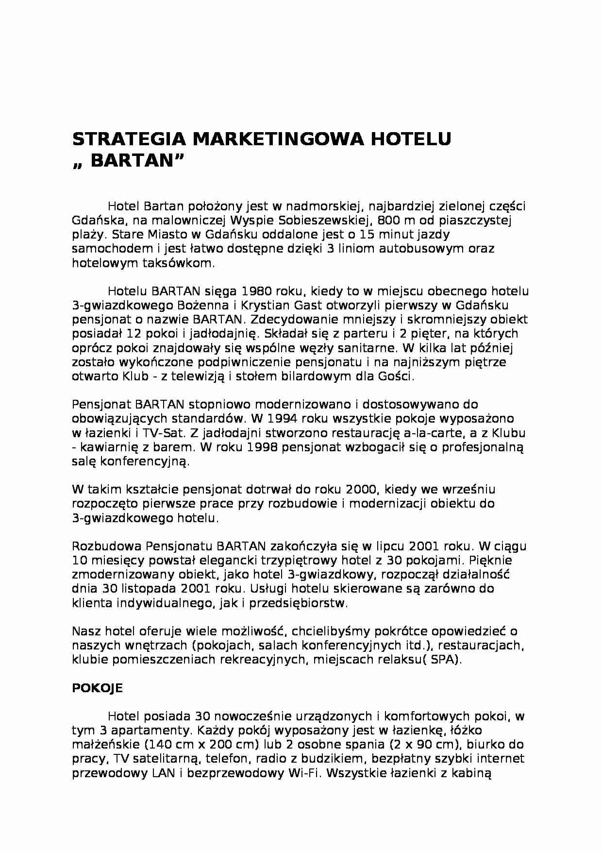 Strategie marketingowe hotelu