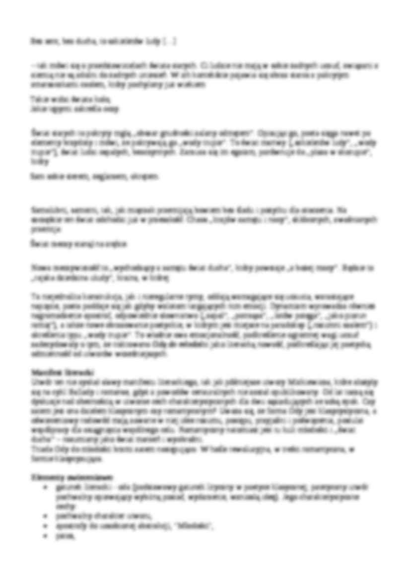 Oda Do Młodości Analiza I Interpretacja Notatekpl