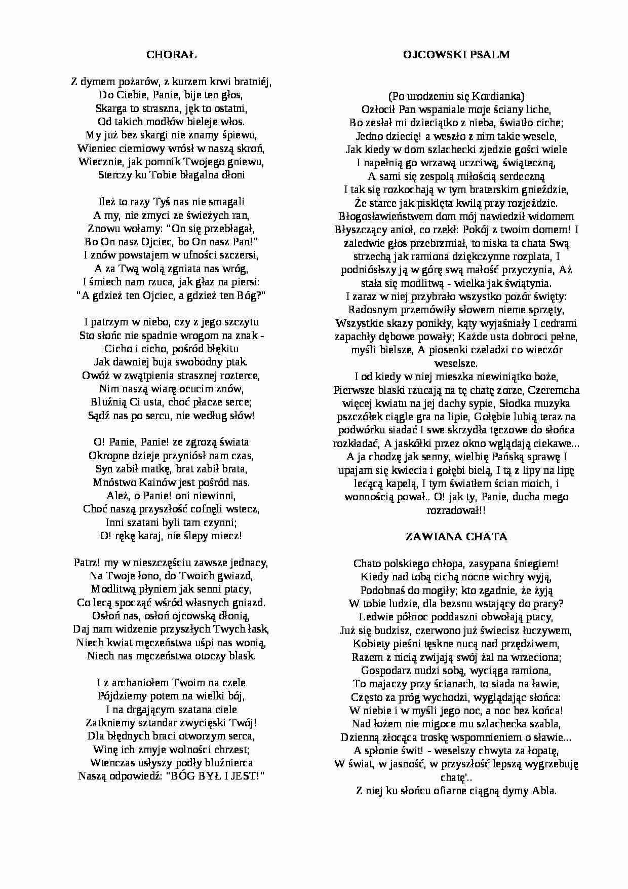 Wiersze Konrada Ujejskiego Notatekpl