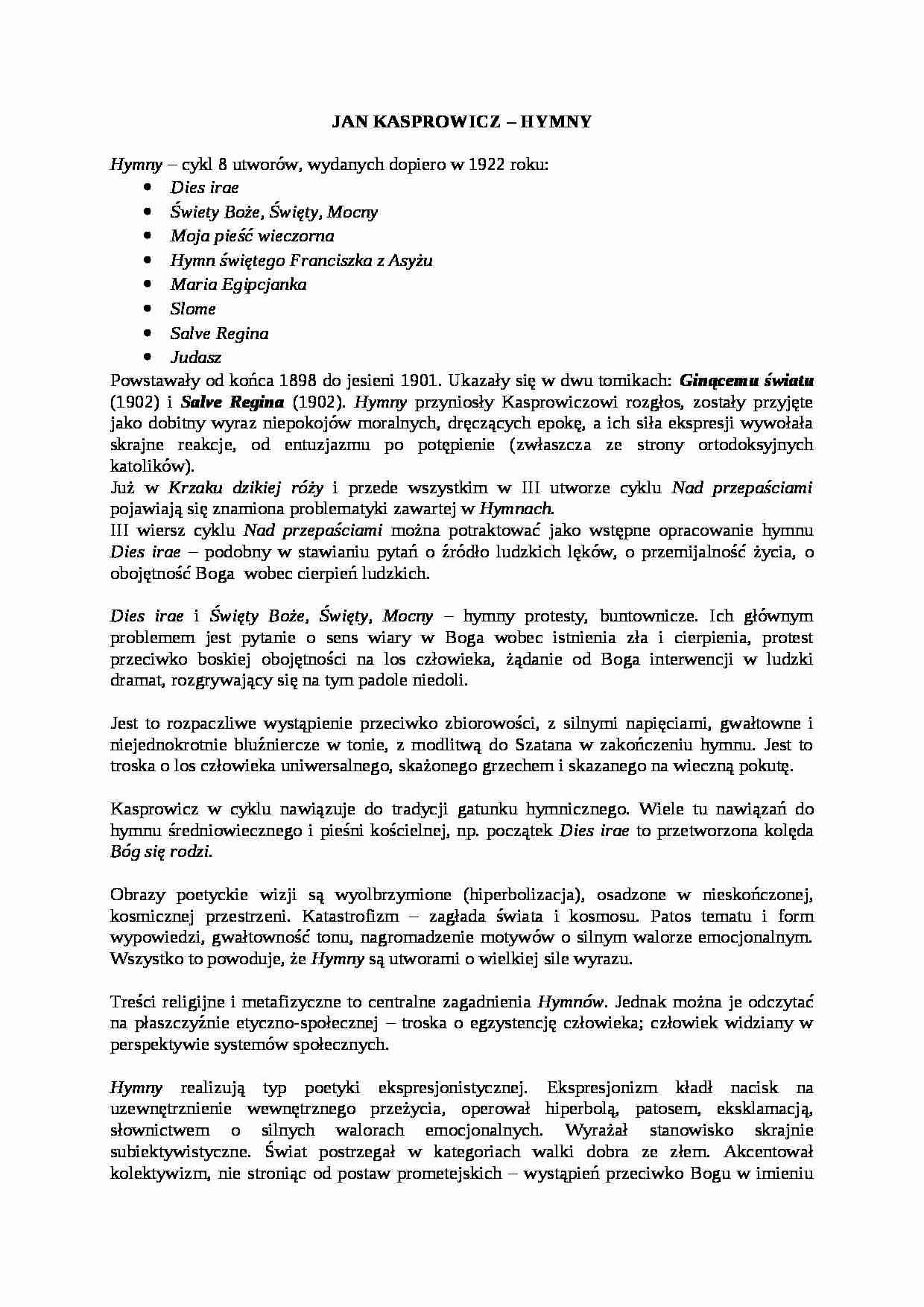 HYMNY KASPROWICZA PDF
