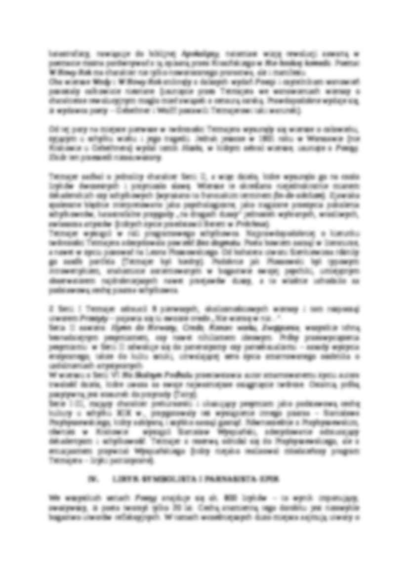Tetmajer Przerwa Kazimierz Poezje Wybrane Notatekpl
