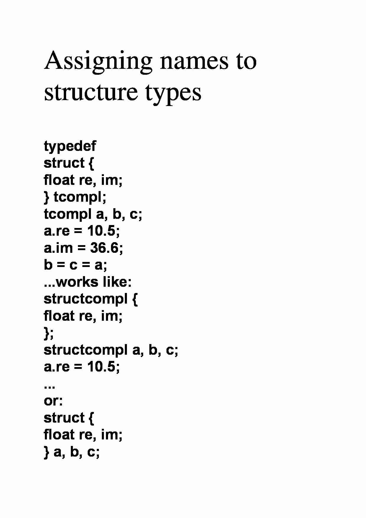 Assigning names to structure types - strona 1