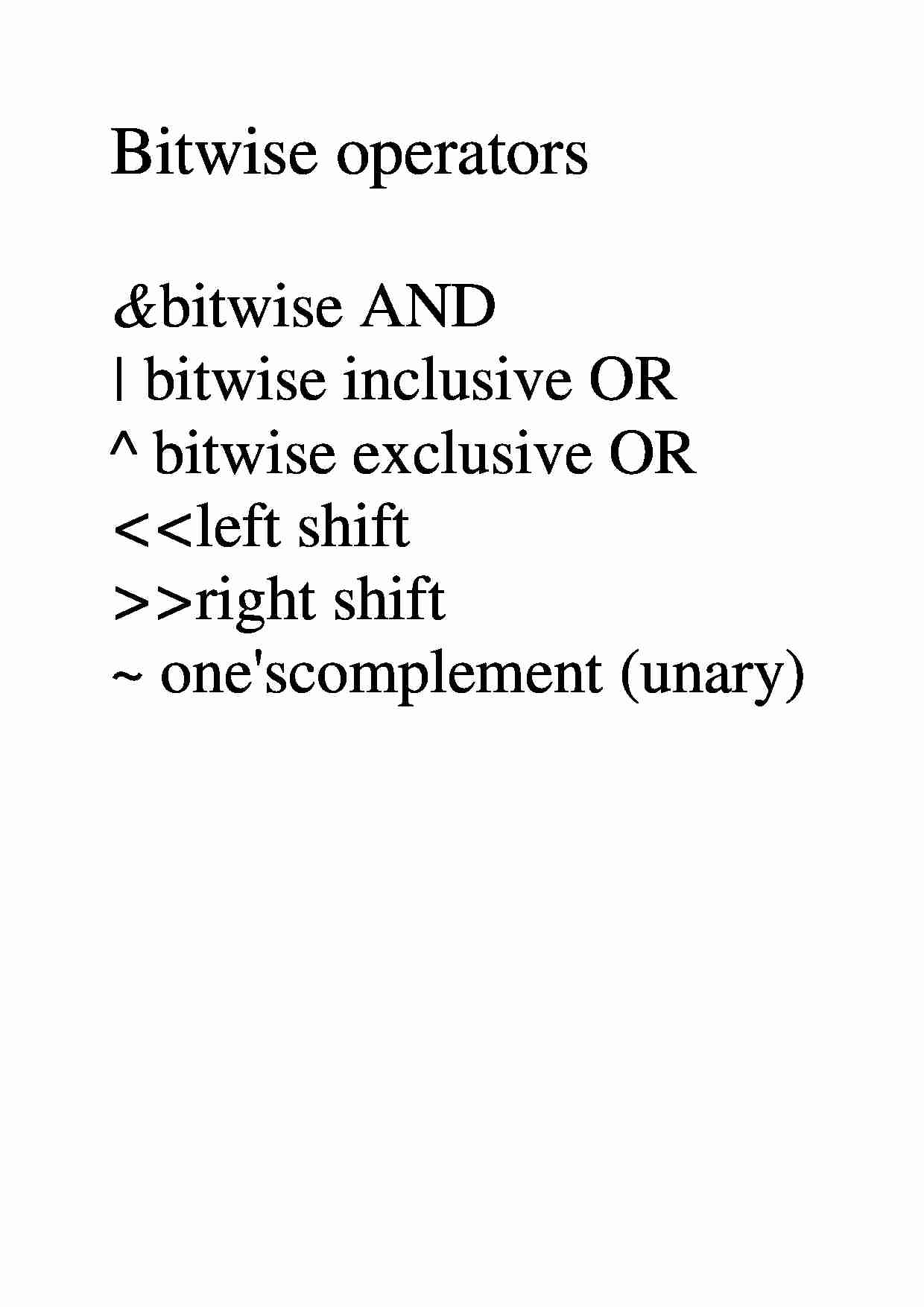 Bitwise operators & bitwise AND - examples - strona 1