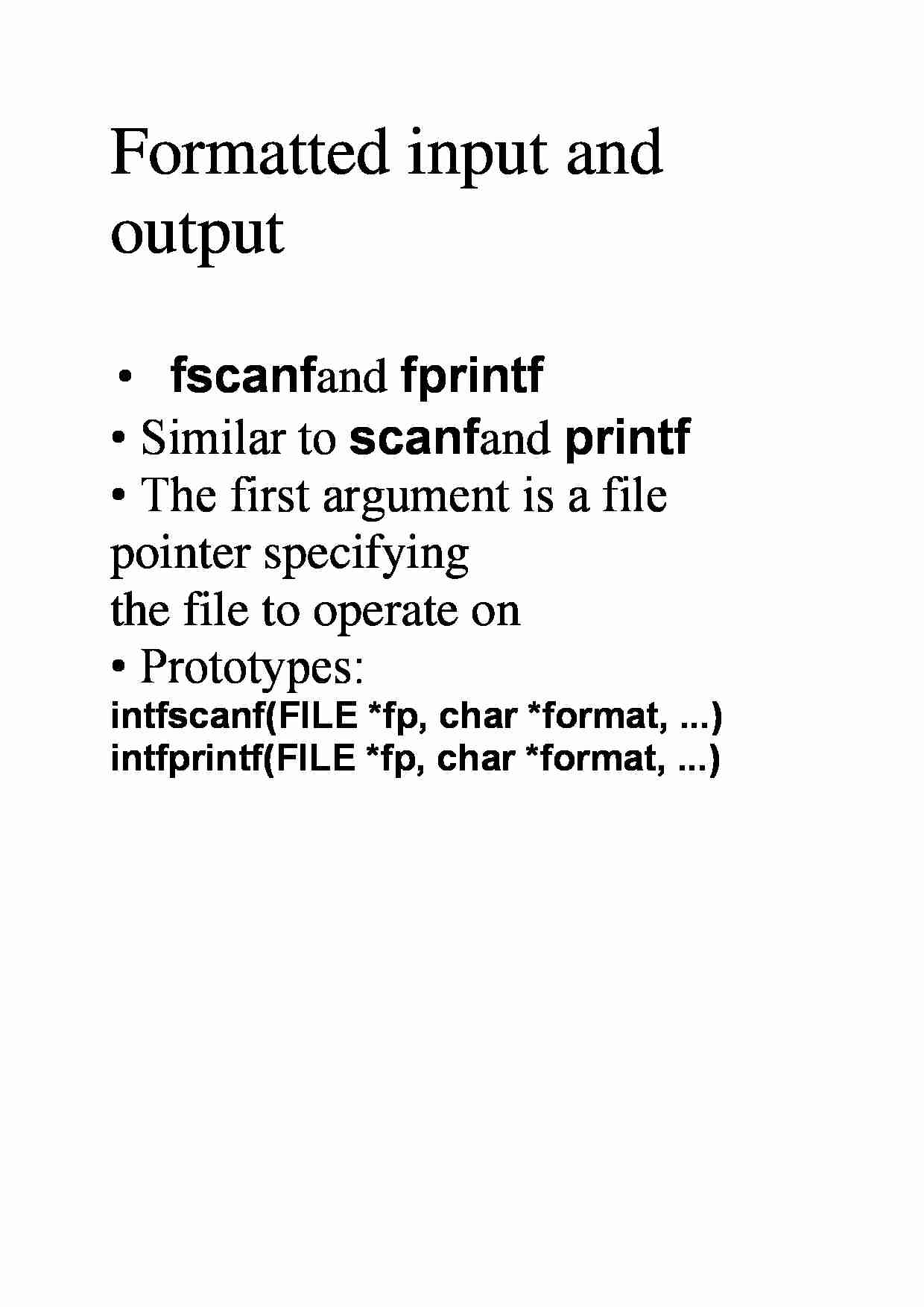 Formatted input and output - strona 1