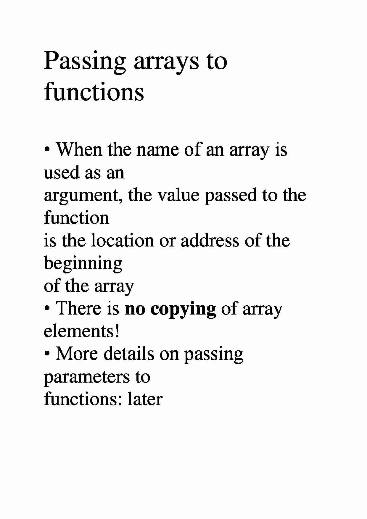 Passing arrays to functions - strona 1