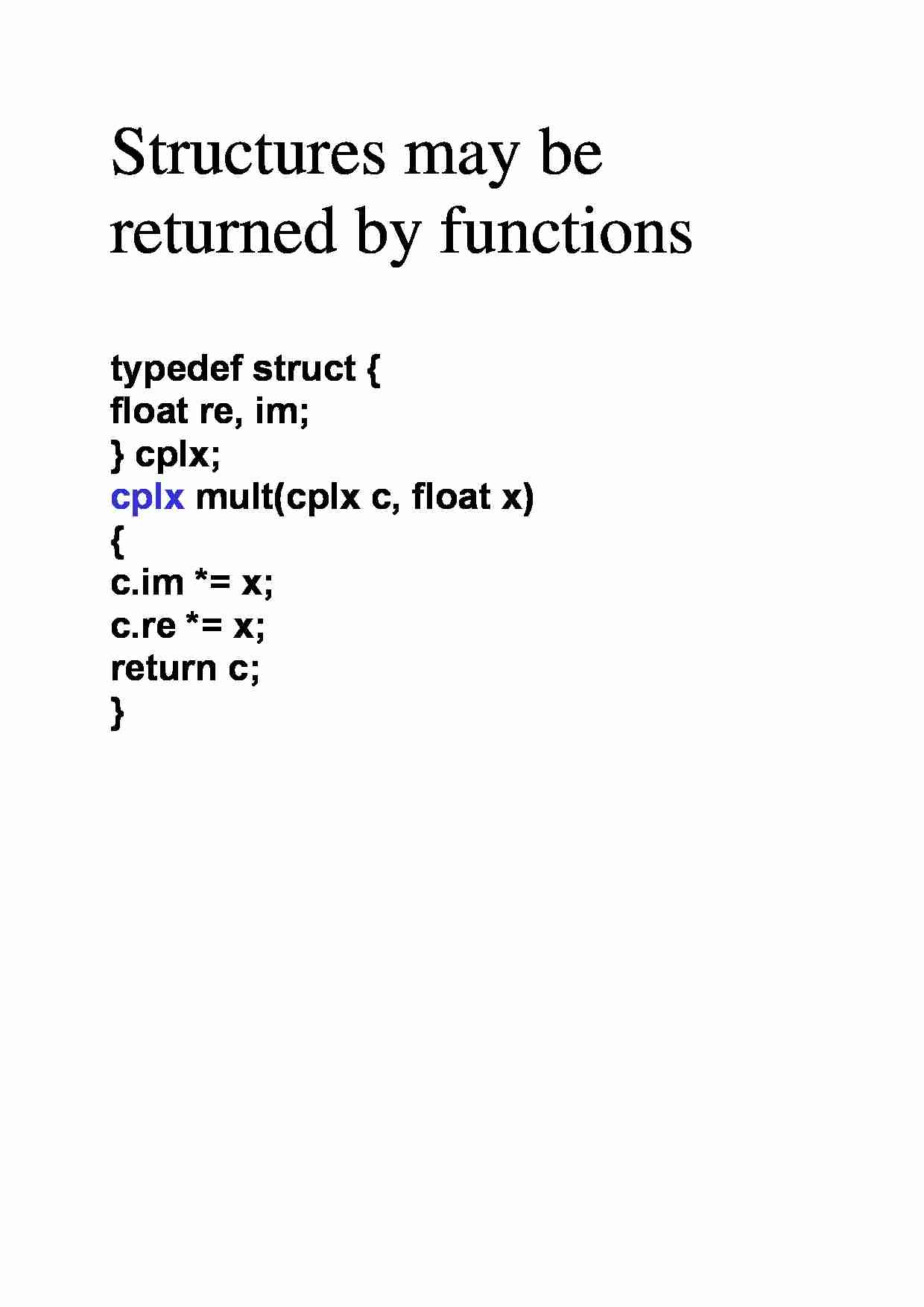 Structures may be returned by functions - strona 1