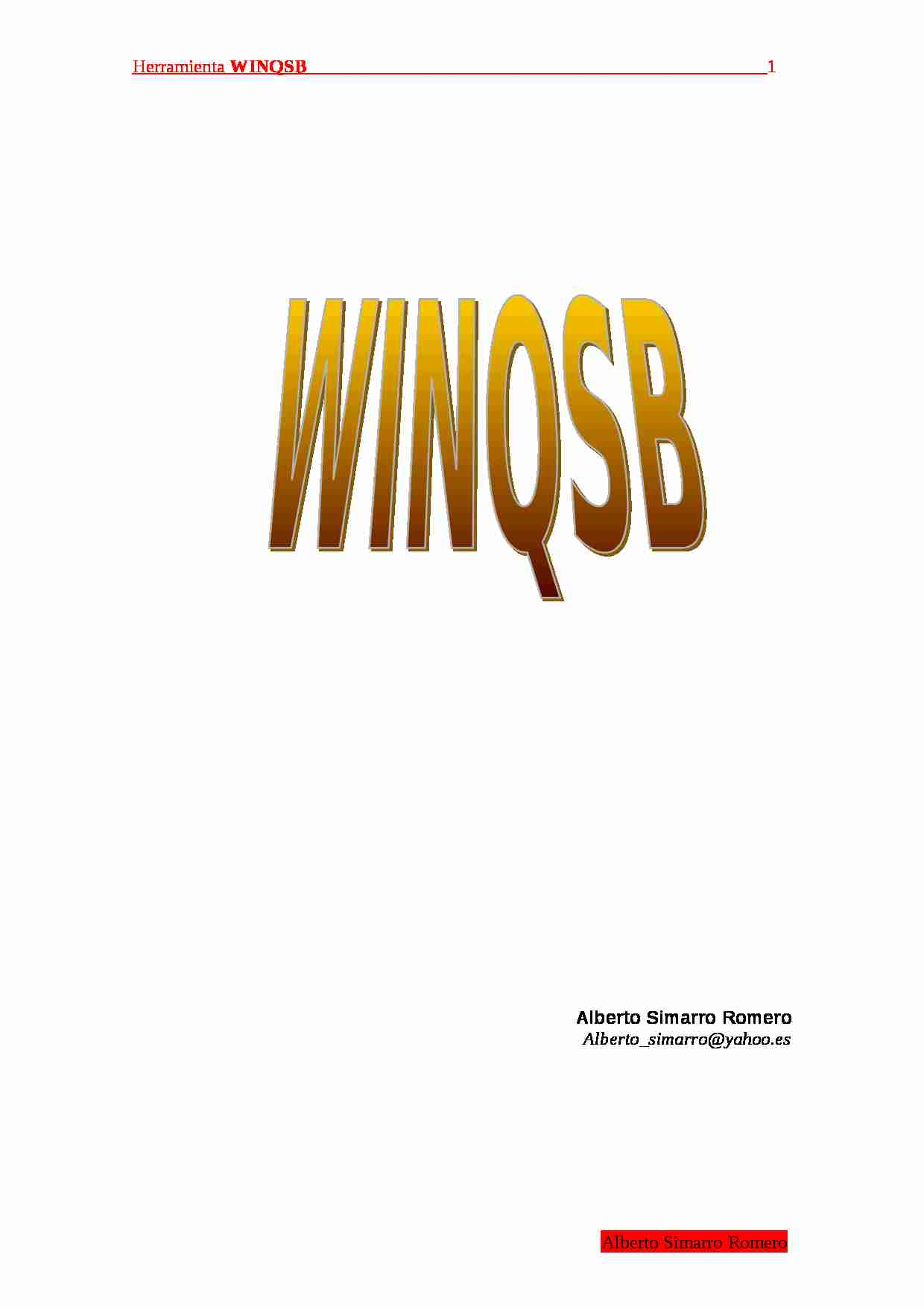 Manual winqsb - strona 1