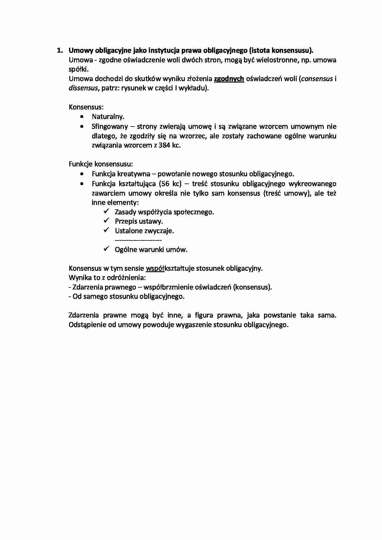 169196b01e3014 Umowy obligacyjne jako instytucja prawa obligacyjnego (istota ...
