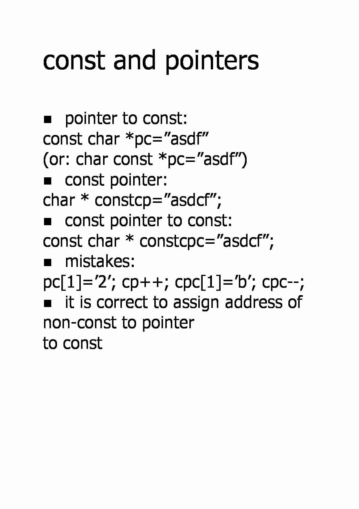 Const and pointers - strona 1