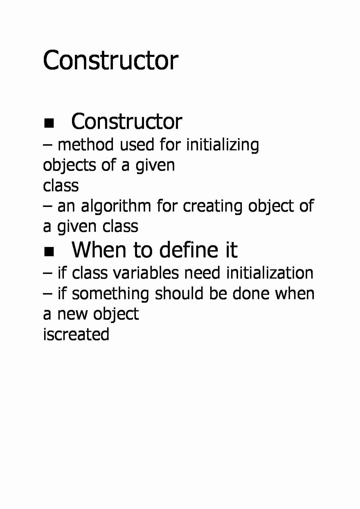 Constructor - When to define it - strona 1
