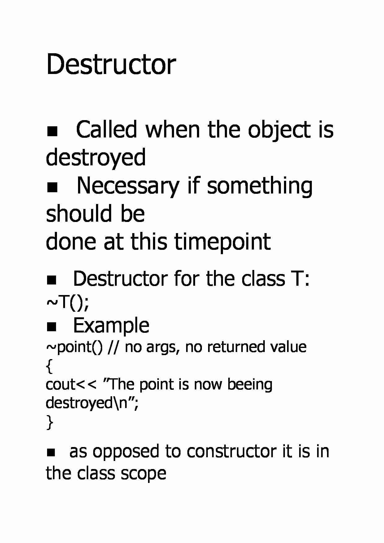 Destructor - Example - strona 1