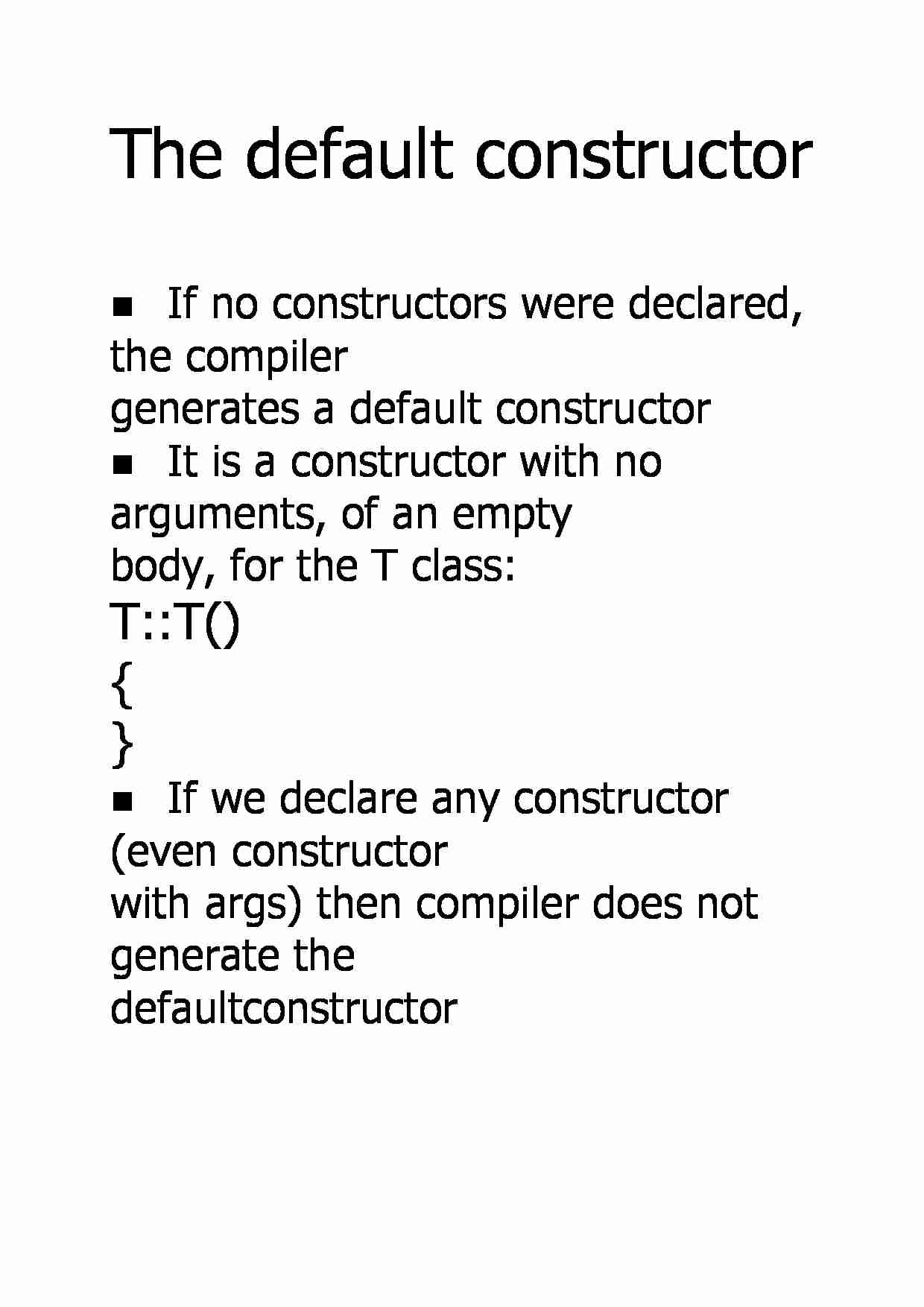 The default constructor - strona 1