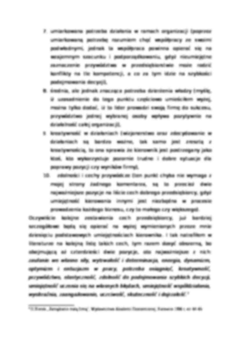 Cechy Kierownika Autorytet Notatekpl