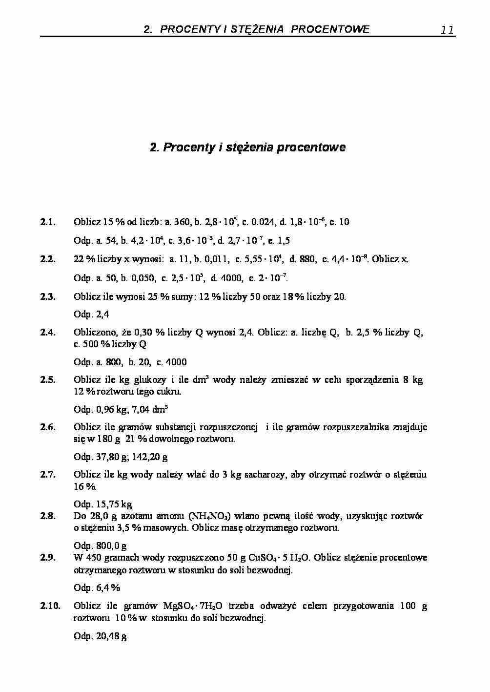 8 klasa chemia zadania pdf