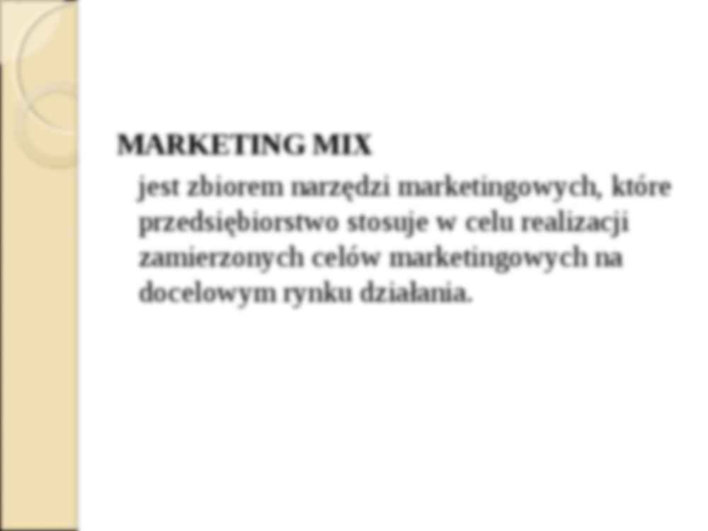 Koncepcja marketingu mix - wykład z pdstaw marketingu - strona 2