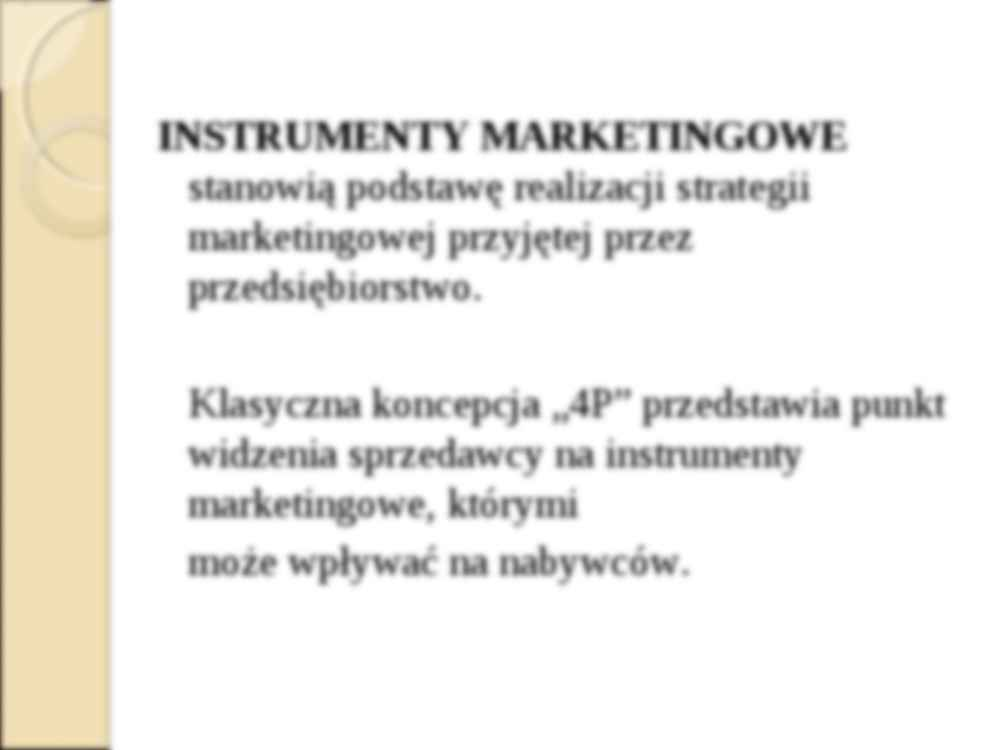 Koncepcja marketingu mix - wykład z pdstaw marketingu - strona 3