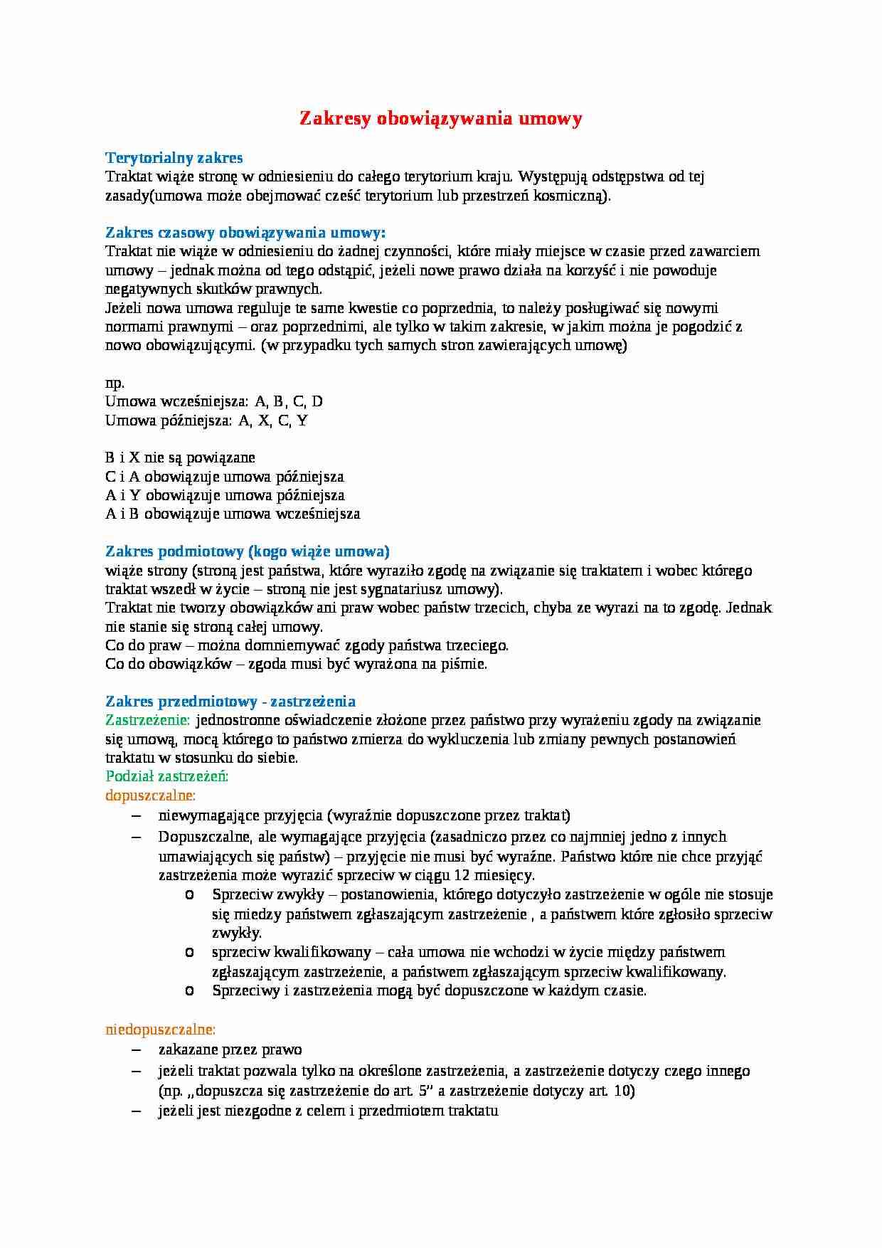 4c0c513d61001b Zakresy obowiązywania umowy - wykład - Notatek.pl