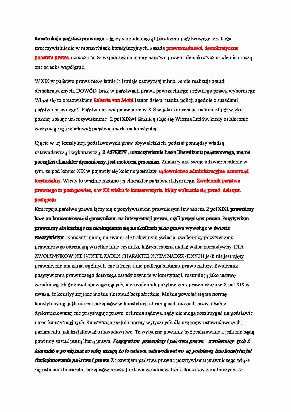 4913d82e1053ca Podgląd dokumentu Wykład - państwo prawne - strona 1 ...