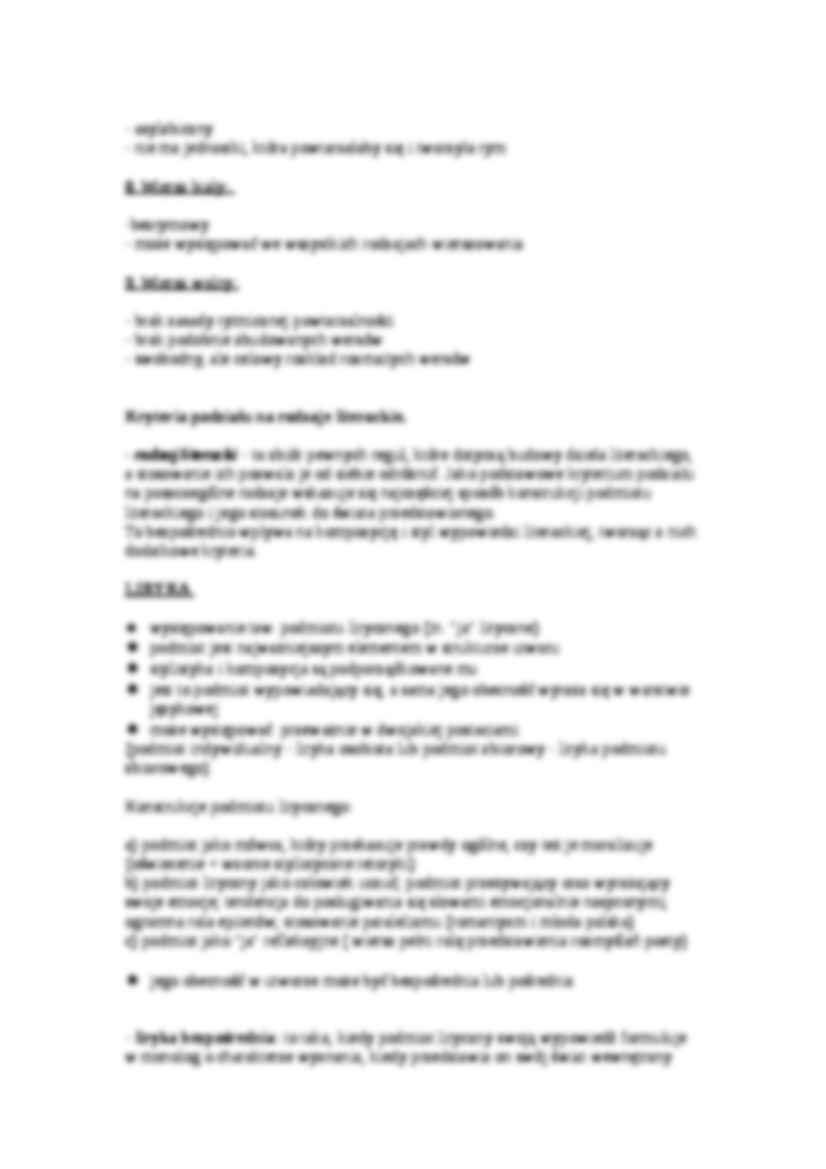 System Wersyfikacyjny I Format Kryteria Podziału Na Rodzaje