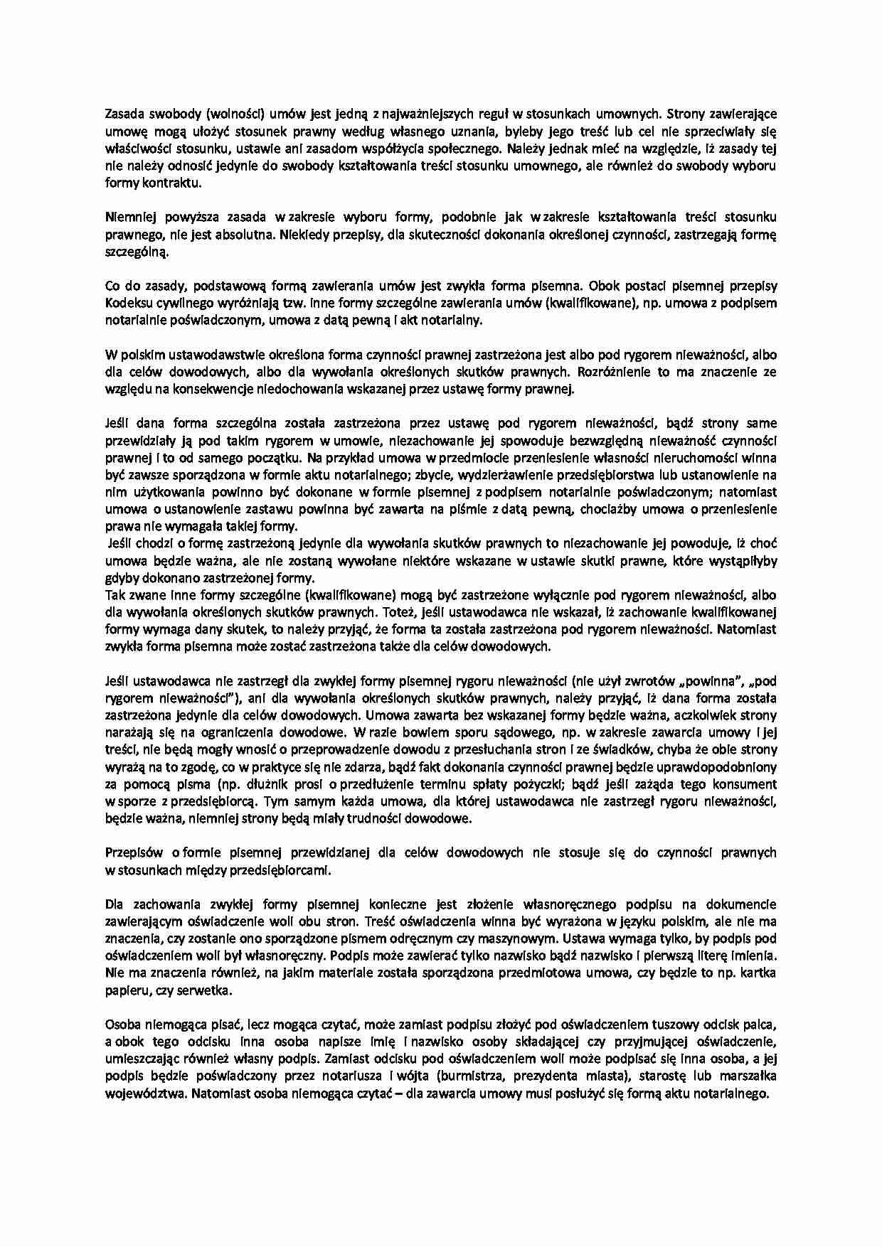 7a89efce71633b Podgląd dokumentu Ogólna problematyka umów - omówienie - strona 1 ...