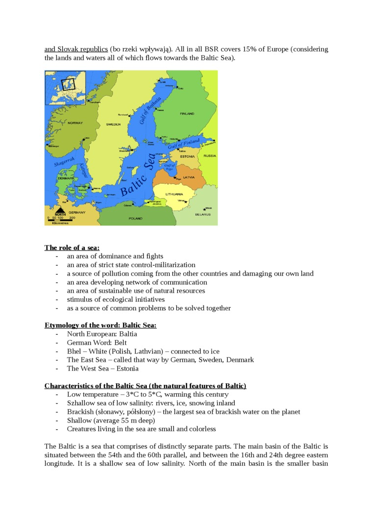 Geographical and natural determinants of the Baltic Sea Region - strona 1