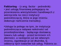 faktoring bankowy