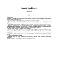Henryk Sienkiewicz Wyszukiwarka Notatekpl