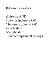 Bitwise operators & bitwise AND - examples
