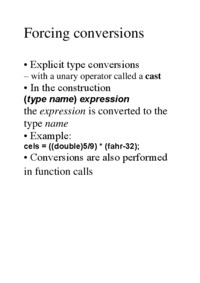 Forcing conversions - examples