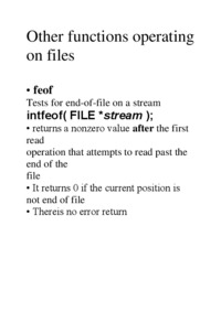 Other functions operating on files