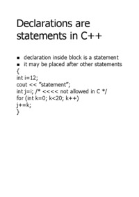 declarations-are-statements-in-c