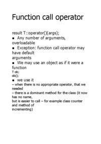 Function call operator