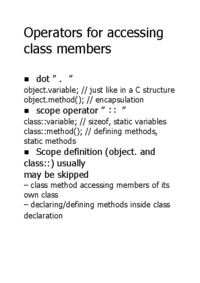 Operators for accessing class members