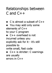 Relationships between C and C++
