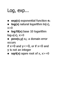 log-and-exp